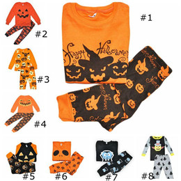 baby halloween costumes free shipping Canada - Cosplay Baby Girls Boys Clothing Sets Toddler Pajamas Suit Pumpkin Halloween Costume Children Sleepwear Furniture Sets free shipping
