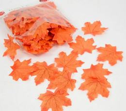 China New Arrive 100Pcs Artificial Cloth Maple Leaves Multicolor Autumn Fall Leaf For Art Scrapbooking Wedding Bedroom Wall Party Decor Craft cheap flower maple suppliers