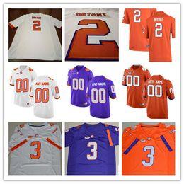 edbcd822f81 Mens Clemson Tigers College Football  2 Kelly Bryant Mark Fields 3 Amari  Rodgers 16 Will Swinney 20 Jack White Purple Stitched Jersey S-3XL ...