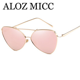 Discount sexy women eyeglasses - ALOZ MICC Sexy Irregular Mirror Sunglasses Women Fashion Brand Designer Men Alloy Frame Little Pilot Mirror Eyeglasses A