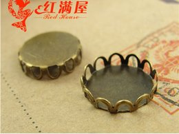 12mm pendant tray Canada - A3119 Fit 12MM Antique Bronze plated Zinc alloy metal retro jewelry accessories DIY round stamping blank base, pendant tray settings