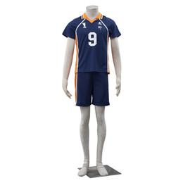 $enCountryForm.capitalKeyWord Canada - New Apparel High Quality COS Haikyuu!! Karasuno High Schoo Uniform Valleyball Jers NO 9 Cosplay Costume