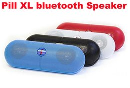 Wholesale Pill Speakers Canada - Mini Speaker Pill XL Bluetooth Protable Wireless Stereo Audio Super Bass U Disk TF Slot Handsfree MP3 Player With Handle for iPhone 6