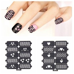 $enCountryForm.capitalKeyWord Canada - New #06-#16 Multiple-Use Nail Art Hollow Template Stickers Reusable Stamping Tools Nails Tips Polish Printing Beauty Decals DIY