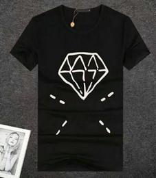 Cotton Express Australia - Top Express European Style Cotton T Shirt Men Black White T-shirts Diamond Printed Summer Skateboard Boy Hip hop Tshirt Tops Red