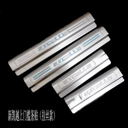 $enCountryForm.capitalKeyWord Australia - Interior Stainless Steel Scuff Plate Door Sill For 2015 Buick Excelle Welcome Pedal Threshold Strip Car Styling Accessories 4 pcs set