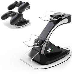 Station Wireless Controllers Australia - For Sony PlayStation 4 PS4 PS 4 Game Wireless Controller Dual Controllers Charger Charging Dock Stand Support Holder GT Station