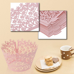 $enCountryForm.capitalKeyWord Canada - Modern Laser Cut Delicate Carved Flower Muffin Cupcake Wrappers Cup Cake Topper for Party Wedding Reception Banquet 50PCS