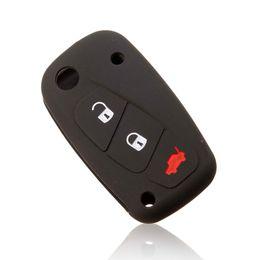 3 кнопки синий / зеленый световой Силиконовый ключ автомобиля чехол для FIAT Panda Stilo Punto Doblo Grande / Bravo 500 Ducato микроавтобус заказ$18no tr
