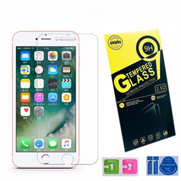 Iphone Glass Screen Guard Australia - For iPhone X 8 7 6 Plus 5S 2.5D Tempered Glass Film Screen Protector Guard For Samsung Galaxy S6 S7 S8 Edition 7Plus with Paper Package