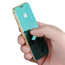 $enCountryForm.capitalKeyWord Canada - New Fashion Unlocked Ultrathin credit card mobile phone LED touch display metal body MP3 dual sim card FM bluetooth dialer mini cell phone