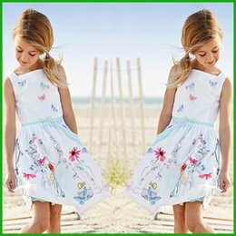 one day dress NZ - one-piece summer girls dress floral animal print solid white chidlren flower sundress lovely casual party formal girls dress one-piece