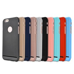 Discount breathable iphone case - For Apple Red iphone 7 7 plus 6S plus Ultra-thin breathable Matte hard shell cell phone case