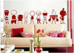 one piece sticker wall Australia - Ace One Piece Luffy Q 9 people Wall Sticker Car Wall Stickers Japanese Decal Vinyl Decal Sticker Home Decoration 43*43 cm