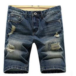 China Wholesale-Mens Lightweight Jean Shorts Short Plus Size Jeans for Men Summer Mens Short Pants Trouser cheap fly short pants for men suppliers
