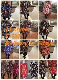 Lavender trees online shopping - Large Sizes New Autumn Women Casual Long Sleeve Cute Christmas Tree Snowman Dresses Loose Plus Size Dress Vestidos XL X DHL ONY170919