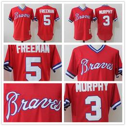24fad0ea8 ... 2017New Mens Atlanta Braves 3 Dale Murphy 5 Freddie Freeman Retro mesh  Jersey Free Shipping jerseys