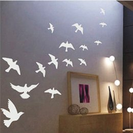 $enCountryForm.capitalKeyWord Canada - black and white available Removable Bedroom Pvc peace bird wall sticker Wall Vinyl Sticker Home Art Decor Decals