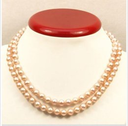 China hot sell Genuine AAA 9-10mm natural south sea pink pearl necklace 35 inch 14k supplier 35 inch south sea pearls suppliers