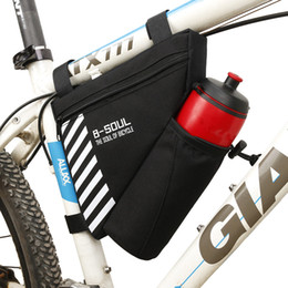 Accessories Water Bag NZ - B-SOUL 5Colors Bike Triangle Bag For Bicycle Front Frame Bag Cycling Top Tube Bag With Water Bottle Pocket Bicycle Accessories