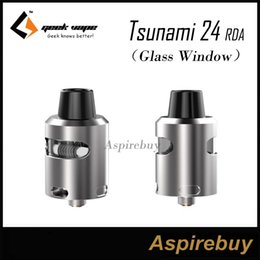 tsunami atomizer NZ - Geekvape Tsunami 24 RDA Tank Glass Window Edition RDA Atomizer Velocity Style Deck 24mm Diameter Rebuildable Dripping Atomizer 100%Authentic