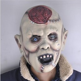 2016 halloween scary mask head decorated props super cheap wholesale terrorist devil rotten head explodes the brain a mask - Cheap Creepy Halloween Costumes