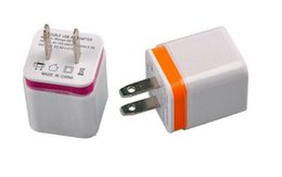 $enCountryForm.capitalKeyWord Canada - Metal Dual USB wall Charging Charger US EU Plug 2.1A AC Power Adapter Wall Charger Plug 2 port for Iphone Samsung LG Tablet Ipad Free DHL