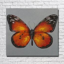 decorative hand paintings Australia - Free shipping decorative design beautiful butterfly oil painting on cnavas by hand painted Wall Pictures For Bedroom
