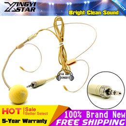 wireless head microphones NZ - Flesh Color 3.5 mm Stereo Plug Connector Dual Earhook Headworn Head-mounted Headset Microphone For Wireless BodyPack Transmitter