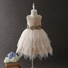 $enCountryForm.capitalKeyWord UK - Stunning champagne Flower Girls Dresses Ball Gown Soft Tulle with Embroidery In Stock Fast Shipping Cheap Flower Girls Dres First Communion