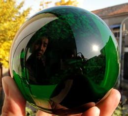Magic Crystal Balls Canada - Asian Rare Natural Quartz Green Magic Crystal Healing Ball Sphere 100MM+Stand YI