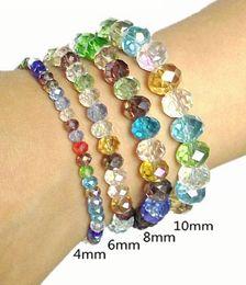 $enCountryForm.capitalKeyWord NZ - Brand new cheap handmade fashion bracelets colorful stretch crystal bead bracelets for ladies girl Fashion Supplier jewelry