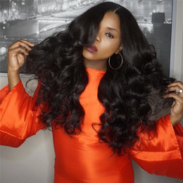 peruvian body wave wig light brown 2018 - Fashion 8A Full Lace Human Hair Wigs   Lace Front Wig With Baby Hair Body Wave Brazilian Virgin Glueless Lace Wigs For B