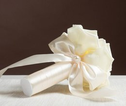 crystal flowers photography 2019 - Wedding Bride Bouquet Photography Prop Valentine's Day crystal rhinestone pearl Rose Flower Ribbons Bouquets Favors