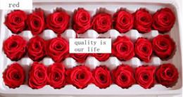 Flower Gift For Love Canada - Preseved rose 24pcs set Eternal life rose Gift for loved ones Christmas gift multicolor Natural organic long living flower Gift bos packing