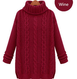 New Fashion Warm Winter Pullover Women Sweater Women Vintage Knitwear Long sleeve O-neck Wool Oversized Knitted Sweaters