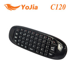 Wholesale Original 2.4 GHz G Mouse C120 Air Mouse T10 Recarregável Sem fio GYRO Air Fly Mouse e Teclado Combo para Android Box TV computador