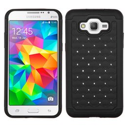 Samsung Galaxy On5 Cases Covers Canada - Hot Bling Diamond Rugged Case Robot Hybrid Combo Armor Rhinestone Cover for Samsung Galaxy Grand Prime G530 Core Prime G360 Samsung On5 On7
