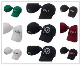 895f222069f89 La más nueva moda Tyler The Creator Golf Hat Negro blanco Dad Caps Wang  Cross camiseta Earl Odd Future snapback caps