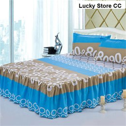 Blue Queen Sheet Set NZ - Wholesale-bedskrit elastic fitted sheet sunny mood bed cover pillowcase mattress cover bedclothes bedspreads cushion cover 3pcs set blue