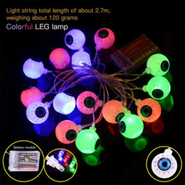 wholesale 16pcs halloween glowing led spooky eyeball string light set indoor outdoor party decoration light discount spooky halloween decorations