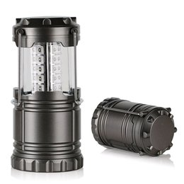 Lamp for camping online shopping - 30LED camping lantern lamp outdoor collapsible lantern emergency Flashlights Portable Black Collapsible For Hiking Camping Christmas lights