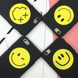 $enCountryForm.capitalKeyWord Canada - Luxury GD smile face Hard PC cover funda Case Coque For iPhone5 5s 6 6s Plus Scrub Matter Back Cover Couple Cases