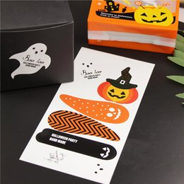 Diy Paper Making Canada - Handmade Sticker 6pcs lot Halloween Vintage Stickers Kraft Label Sticker DIY Hand Made For Gift Cake Baking Sealing Sticker