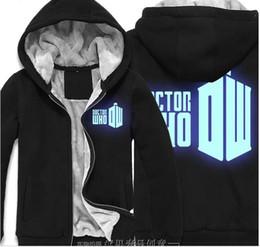 ee71d2bb3c02f Felpa con cappuccio in felpa di cotone felpato casual da uomo di Doctor Who  Super Warm Winter
