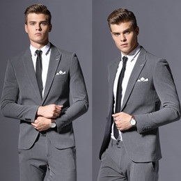 Cheap Mens Grey Suits Online | Grey Tuxedo Suits Mens Cheap for Sale