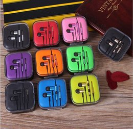 Colorful Phones Canada - Xiaomi Metal Earphone Earbuds With MIC colorful sports Music Wired earphone for cell phones Free shipping