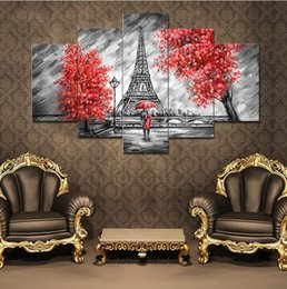 $enCountryForm.capitalKeyWord NZ - Abstract Lovers Canvas Paintng Hot Cuadros Decorative 5Pcs Unframed Modular Photo print Tableau Wall Pictures For Living Room