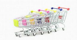 $enCountryForm.capitalKeyWord Canada - 170pcs Fashion Mini Supermarket Hand Trolleys Mini Shopping Cart Desktop Decoration Storage Phone Holder Baby Toy New