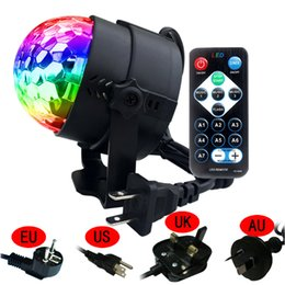 $enCountryForm.capitalKeyWord NZ - Remote Control RGB LED Crystal Magic Rotating Ball Stage Light AC110-240V Sound Activated KTV DJ Disco Party Effect Light